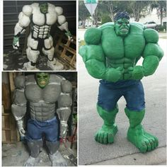 """Wanna know how I made it? Re-pin this, share the link on your Facebook page so I can win the """"coolest homemade costume contest"""" !!   http://ideas.coolest-homemade-costumes.com/2015/11/29/diy-hulk-costume-made-from-scratch/"""