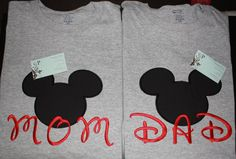 Mom or Dad Disney Mickey Mouse Head Shirt by WhimsyBellesandBeaus, $22.99