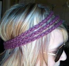 the tri headband // fig by OwlsNestCrochet on Etsy, $6.00
