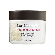 Bare Escentuals bareMinerals Skincare Purely Nourishing Cream: Dry Skin by Bare Escentuals. $27.00. Clinically proven to reveal brighter, smoother, younger-looking skin, reduced fine lines and wrinkles, and remarkably smaller-looking pores. Unique electrolyte delivery system optimizes your skin's ability to absorb and retain moisture, resulting in smoother, healthier-looking skin. We formulated our skincare to perform expertly with our foundation to give you a younger-lookin...