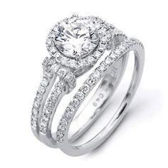 Simon G Wedding Ring and Band