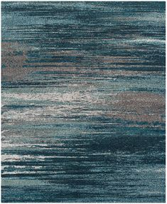 "Dalyn Neo Grey Haze Teal 5'3"" x 7'7\"" Area Rug"