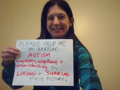 Picture that I posted on FB.  Just like and share on Pinterest for more #Autism awareness!
