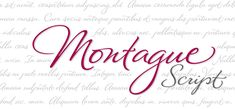 Montague Script font by Stephen Rapp - a natural font for advertising and logo design