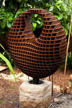 iron circle sculpture