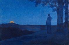"""""""The Solitude of Christ"""" by Alphonse Osbert, 1897."""