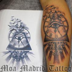 madrid_tattoo_501-2_ojo_horus_reloj_piramide_pajaros.jpg (900×900)