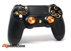 Black/Gold Aluminum Thumbsticks Ps4 Rapid Fire Custom Modded Controller 35 Mods COD Advanced Warfare, Destiny, Ghosts Quick Scope Auto Run Sniper Breath and More http://www.cheapgamesshop.com/blackgold-aluminum-thumbsticks-ps4-rapid-fire-custom-modded-controller-35-mods-cod-advanced-warfare-destiny-ghosts-quick-scope-auto-run-sniper-breath-and-more-2/
