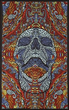 3D - Mindful Skull - Tapestry, 60 in. x 90 in., SKU: 007243