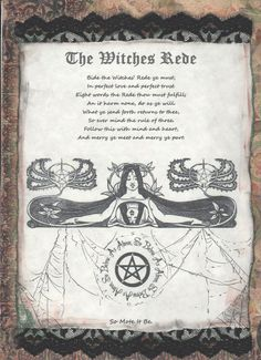 Book of Shadows:  The Witches Rede.