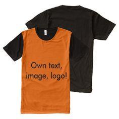 Panel T-shirt Orange and Black