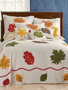 Hardanger Embroidery Patterns Bedspread - Forester Chenille Bedspread - The charming colors of autumn make for a delightful bedroom tribute to the changing seasons. cotton chenille is super soft for ultimate com Floral Bedspread, Vintage Bedspread, Chenille Bedspread, Bedroom Vintage, Hardanger Embroidery, Vintage Embroidery, Embroidery Patterns, Hand Embroidery, Quilt Patterns