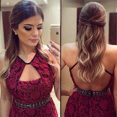 Instagram media arianecanovas - Make e hair basiquinhos by ME  {Esqueci de marcar hora no @salaoprime}  | #makeup #hairdo #prendada #blogtrendalert