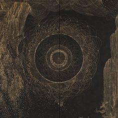 "thefargarden: "" The very beautiful drawings by Korean Artist Kim Sin Hye, a. Cleopatra, Dark Skies, Korean Artist, Beautiful Drawings, Psychedelic, Photo Art, Art Photography, Prints, Circles"