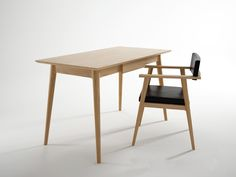 Vintage Desk is a minimalist desk designed by Canada-based firm Ion Design Furniture. The desk is made of 100% wood, and is available in either American Black Walnut, White Oak, or Teak.