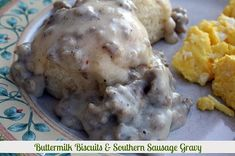 Mommy's Kitchen - Old Fashioned  Country Style Cooking: Southern Sausage Gravy  Skillet Biscuits {Southern Favorite}