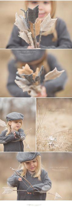 Look at those cute felt arrows.  Nashville child photo.