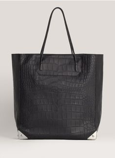 Alexander Wang - Prisma croc-embossed leather tote | Black Day Totes | Womenswear | Lane Crawford - Shop Designer Brands Online
