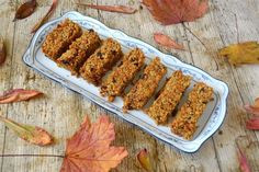 Recipe for delicious chewy carrot cake flapjacks with crunchy walnuts, flecks of autumn gold and the flavours of a classic carrot cake.