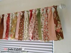 Valance made from jelly rolls from The Crafty Quilter