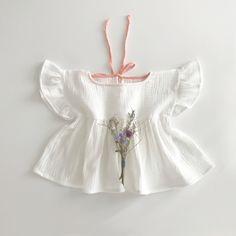 Liilu Volant Shirt, Off White - shopminikin
