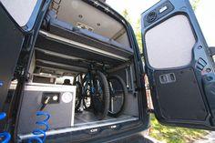 Building an Indoor Portable Shower for Our Sprinter Campervan Build A Platform Bed, Platform Beds, Campervan Bed, Campervan Ideas, Campervan Interior, Camper Beds, Sprinter Camper, Benz Sprinter, Mercedes Sprinter