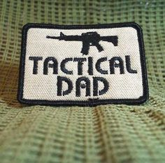 Rugged Tactical Dad Father's Day Patch.  Hook (Velcro) Backed.
