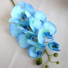 Blue red Silk Phalaenopsis Butterfly Orchid Flower for Wedding