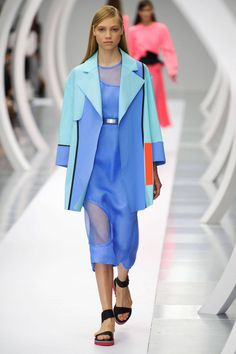 Inspired by artist Julia Dault, who uses brights with a dreamy meets high tech approach, the pieces that integrate color-blocking are bold but approachable thanks to simple, recognizable shapes.   - HarpersBAZAAR.com
