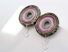 Recycled paper earrings by BluReco