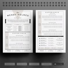 Download Free Resumes Interesting Resume Template Resume Template Instant Download Resume Template .