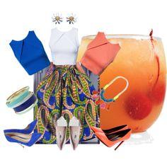 """Hajai Print African Skirt"" by lakol-mauve on Polyvore"