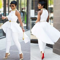 Ways To Wear Off The Shoulder Outfitts On Summer African Attire, African Wear, African Fashion Dresses, African Dress, All White Outfit, White Outfits, Classy Outfits, Girl Outfits, Fashion Wear
