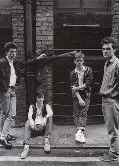 The Smiths in Manchester ― photo by Joelle Depont (1983).