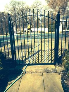 Decorative Arched Wrought Iron Walk Gate