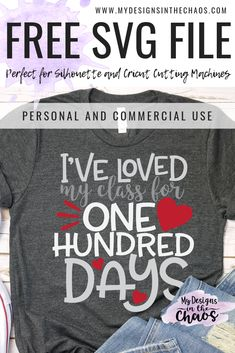 Adorable free 100 days of school SVG designs for your Silhouette or Cricut cutting machine. Perfect for teachers or students. Informations About Free 100 Days of School Shirts, Teacher Shirts, Teacher Wear, Work Shirts, 100 Days Of School, First Day Of School, School Stuff, 100th Day Tshirt Ideas, Crochet Teacher Gifts
