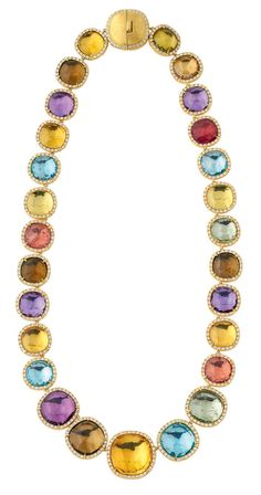Sunset Jaipur with diamonds and colour stones