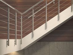 Stainless steel Stair balustrade TUBE 42 by RINTAL