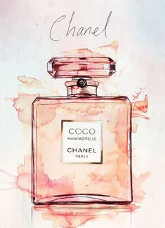 Coco Mademoiselle Chanel Perfume Watercolor Illustration Giclee Print - Source by pretty dresses Coco Chanel Mademoiselle, Coco Chanel Parfum, Chanel Chanel, Chanel Bags, Chanel Handbags, Watercolor Illustration, Beauty Illustration, Painting & Drawing, Watercolor Painting