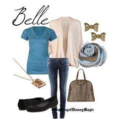A modern outfit Belle might wear.