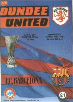 Dundee United vs Barcelona - UEFA Cup Quarter Final 1st Leg 1987