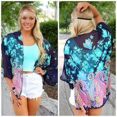 Boho Floral Kimono | uoionline.com: Women's Clothing Boutique