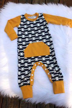 Baby Boy Romper / Baby Boy Harem Romper / by tinyhinythreads