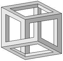 Cube impossible d'Escher
