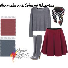 marsala and stormy weather