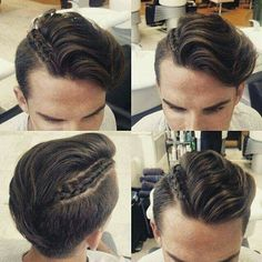 mens hairstyles for thick hair Mens Hairstyles With Beard, Mens Braids Hairstyles, Hair And Beard Styles, Hairstyles Haircuts, Trendy Hairstyles, Short Hair Styles, Viking Hair, Braids For Short Hair, Swagg