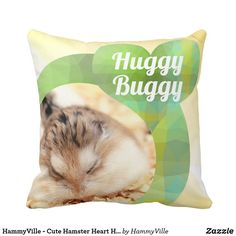 Shop HammyVille - Cute Hamster Heart Huggy Buggy Throw Pillow created by HammyVille. Cute Hamsters, Custom Pillows, Cool Gifts, Personalized Gifts, Cute Animals, Throw Pillows, Knitting, Funny, Hearts