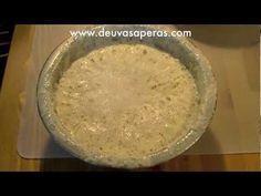 Como Hacer Masa Madre para Hacer Pan Casero y Pizza - YouTube