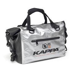 KAPPA WA406S  - Saco impermeável para K-VENTURE, com uma capacidade de armazenamento que chega aos 46lts; - Material em Tarpaulin (cinzento e preto); - Selado com a Tecnologia Seamless (selado com alta frequência).  #kappa #kappamoto #moto #turismo #kventure #wa406s #topcases #acessórios