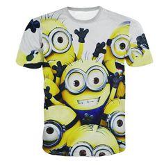 Men/Womens Galaxy T-shirt Minion Printed